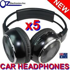 5x UNIVERSAL IR Infrared Headphones compatible with CLARION IR700 CAR DVD player