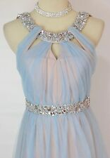City Triangles $145 Evening Prom Formal Cruise Long Cocktail Dress size 5 Blue