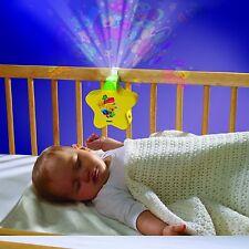 Tomy Primeros Años Starlight Dreamshow Cunita Luz de noche con canciones de cuna Amarillo