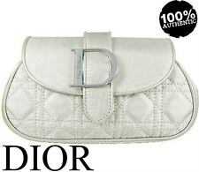 100% AUTHENTIC DIOR COUTURE Addict BEAUTY MAKEUP TRAVEL Clutch SILVER CASE BAG