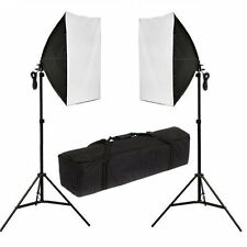 Photographie studio 2x135W soft case eclairage continu softbox light stand kit