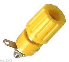 02013168 Morsetto 6A isolato con foro serrafilo Ø 1.5mm GIALLO