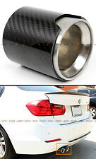 REAL CARBON FIBER COVER STEEL MUFFLER EXHAUST TIP FINISHER FOR BMW F30 328 335