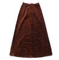 Vintage 70's Velvet Maxi Skirt Retro Boho 8