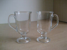 Set of 2 Irish Coffee Glasses Latte Tea Cappucino Chocolate Macchiato Mugs Cups