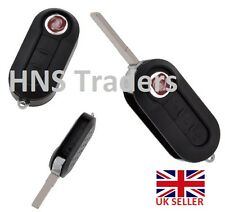 Fiat 500 Panda Punto Bravo 3 Button Remote Flip Key Fob Case New Blade / logo