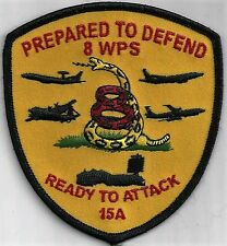 USAF 8TH WEAPONS SQ CLASS 15A PATCH -    'PREPARED TO DEFEND'              COLOR