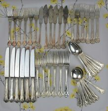 Large 42pc vintage Webber & Hill CUTLERY CANTEEN SET/SERVICE for 6. Silver plate