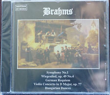 Masters of Music Brahms Selections CD Mint Order 5 Tracks New 71 mins Duet 1995