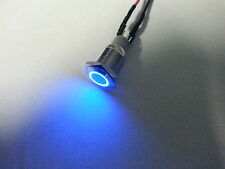 Led blue push button blue on off button led button 12 volt on off switch new