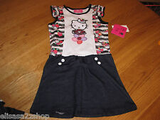 Girls Youth Hello Kitty 6X HK5701900 HK Fltr Sleev Dress W/ Embroidering NWT^^