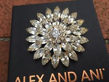 NEW ALEX and ANI SIGNED VINTAGE 66 SWAROVSKI Crystal FLOWER Brooch PIN ��