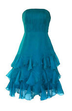 BNWT Monsoon DAPHNE Size 10 Green Silk Frilly Corset Ladies Dress Wedding Party
