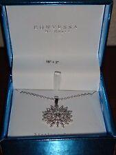 CONTESSA Di Capri~Women's # 925 Sterling Silver NECKLACE & Crystals Pave Pendant