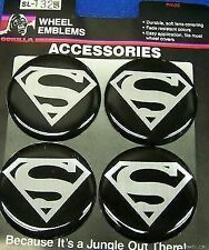 SUPERMAN MAG CHROME WHEEL RIMS CENTRE EMBLEM DECALS STICKERS HUMMER TAHOE CAMARO