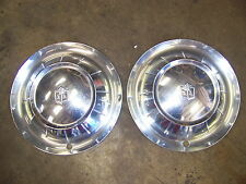 """1954 PLYMOUTH SAVOY HUBCAPS WHEELCOVERS 15"""" PAIR OEM #1538828"""