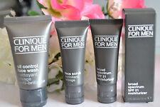 NEW Clinique For Men Face Scrub, Oil Control Face Wash & SPF Moisturizer