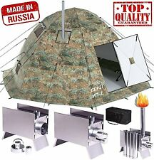 Winter Tent with Stove. 4 Season Outfitter Hunting Expedition Arctic Camping.