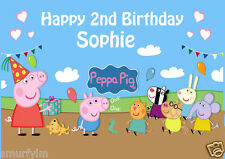 Peppa Pig George CAKE TOPPER PARTY PERSONALISED  RICE/WAFER PAPER A4  image 11