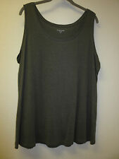 NEW Eileen Fisher Linen Delave Sleeveless Long Tee, Top, Tunic,  Granite, XL