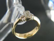18CT GOLD DIAMOND ENGAGEMENT STYLE RING! VALUATION:$4,500! 0.50CT DIAMOND