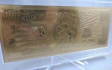 24K GOLD COMMEMORATIVE MILLION DOLLAR BILL ART COLLECTIBLE USA US  money display