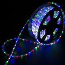 100FT LED Rope Light Home In/Outdoor Christmas Decorative Party Multi-Color 110V