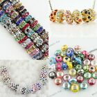 Austrian Crystal Spacer Loose Big Hole Charm Beads Findings Fit Charms Bracelets