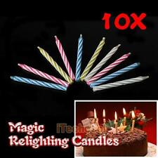 Eternal Birthday Blowing Candles Magic Candles Tricky Toy Gift Relighting N #T1K