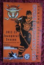San Francisco Bulls Hockey Pocket Schedule ~ 2012 / 2013