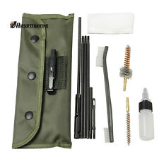 10pcs .22 22LR .223 556 Rifle Gun Cleaning Kit Set Cleaning Rod Nylon Brush