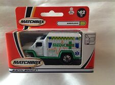 Matchbox #42 Ambulance White & Green with Medic Tampo Boxed