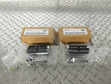Harley Davidson 3 Slot Chrome and Rubber Foot Pegs Sportster Dyna Softail SMALL