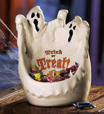 Halloween Decoration FreeShip Large Ghost Trick-or-Treat Ceramic Candy Bowl Dish