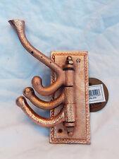Folding Swivel Sturdy Copper Coat / Clothes Hooks - 3 Hook - Household / Boating