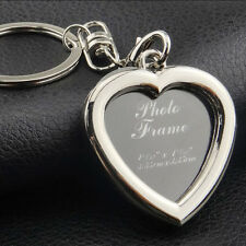 Fashion Creative Heart Shape Lover Memory Photo Frame Key Rings Alloy Pendants