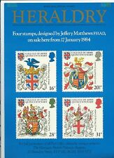 wbc. - GB - ROYAL MAIL POSTERS - A4 - 1984 - COLLEGE OF ARMS - MINOR FAULTS