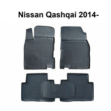 Nissan Qashqai 2014 2015 2016 Rubber Car Floor Mats All Weather Custom
