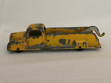 Vintage Tootsie Toy Yellow 1950s Tow Truck Wrecker Pressed Steel Metal