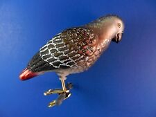 Old World Christmas Ornament African Grey Parrot Bird Blown Tree Glass NWT 18118