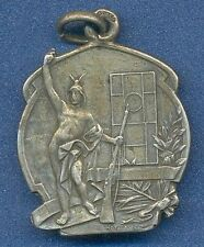 *SHOOTING Nude Male ART NOUVEAU Jewerler Trust 1930s SILVER Medal by HORTA