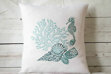 "Marine Collection - 16"" cushion cover nautical/coastal shabby vintage chic"