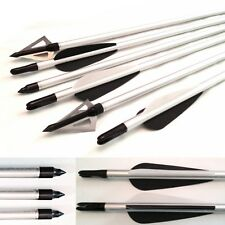 3 Alloy  Archery Arrows on/off Tip AND 3  broadhead 100gr Target & Field Uk