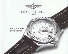 BREITLING SIRIUS LADY PERPETUEL ANLEITUNG INSTRUCTIONS I167