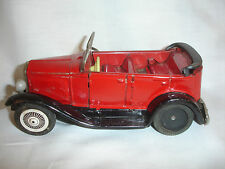 Old Vtg Sign of Quality Tin Friction Convertible Toy Car Made in Japan