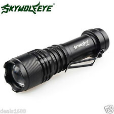 Zoom 5000LM CREE Q5 3 Modes Tactical LED Flashlight Torch Super Bright AA/14500