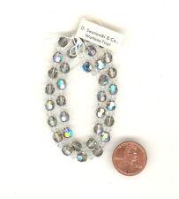 RARE STRAND Vintage Swarovski STARLIGHT AB Beads 6m