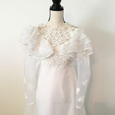 Vintage Fifties Wedding Dress Victorian Style Size 4