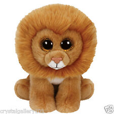 "TY Beanie Babies Boo's Louie Lion 6"" Stuffed Collectible Plush Toy NEW"