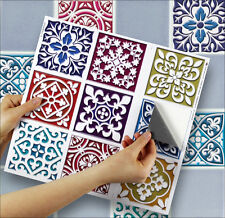 "9 Tile Transfer Stickers 4"" x 4"" MOROCCANO for Kitchen & Bathroom tiles"